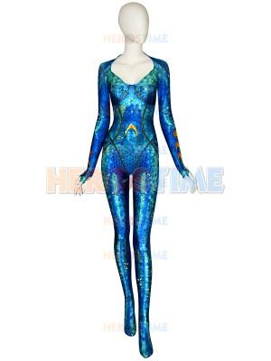 Newest Queen Mera Suit Aquaman 2018 Film Version Mera Cosplay Costume