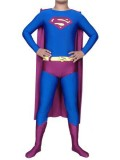 Blue & Purple Superman Spandex/Lycra Superhero Costume
