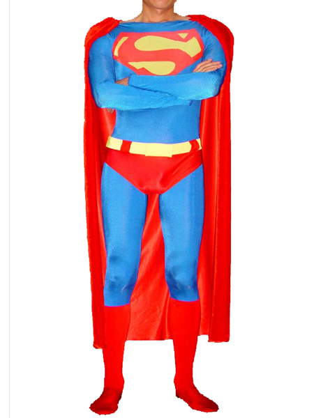 Classic Design Superman Spandex/Lycra Superhero Costume