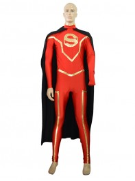 Custom Fantasy Adult Red Superman Costume