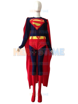 2014 New Style Superman Lycra Spandex Costume