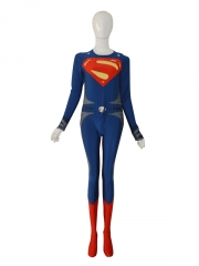Deep Blue & Red Man Of Steel Superman Superhero Costume