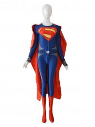 Deep Blue & Red Man Of Steel Superman Superhero Costume