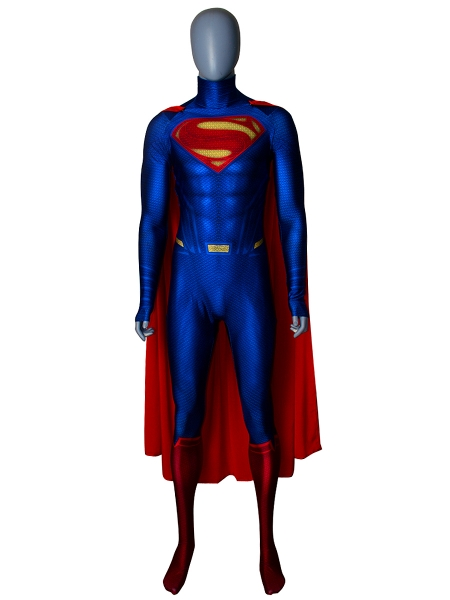 Superman Suit Man Of Steel Superman Cosplay Costume With Cape