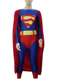 Red & Blue Superman Spandex/Lycra Superhero Costume