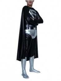 Shiny Metallic Superman Superhero Costume