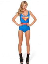 Superman Costume One-Piece Superman Women's Swimsuit
