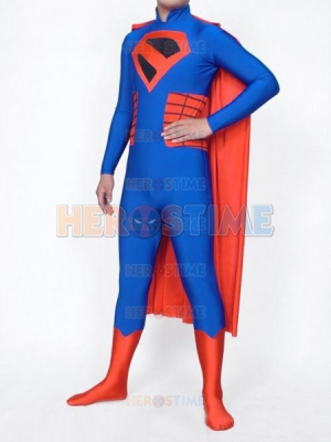 Red & Blue Spandex Superman Superhero Costume