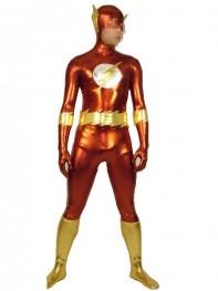 The Flash Shiny Metallic Superhero Costume