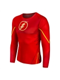 Red The Flash 3D Pattern Superhero Quick Dry Superhero Costume