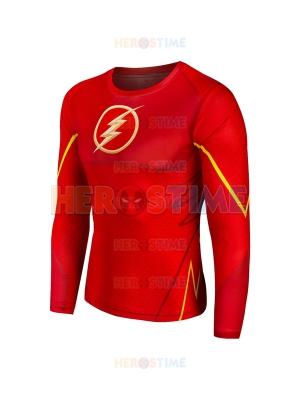 Red The Flash 3D Pattern Superhero Quick Dry Superhero Costume