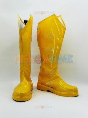 The Flash DC Comics Superhero Cosplay Yellow Boots