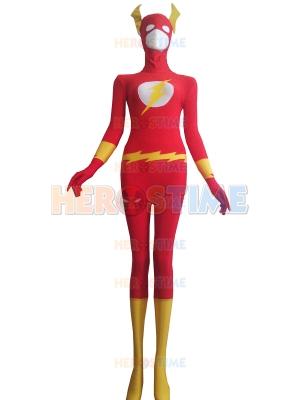 The Flash Red Spandex Superhero Costume