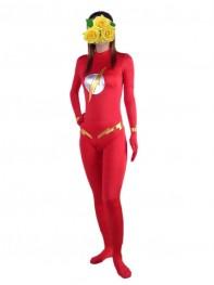The Flash Red Spandex Superhero Costume No Hood