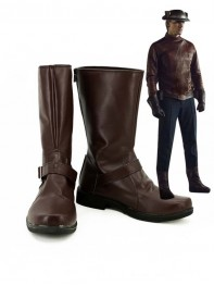 The Flash Season 2 Brown Cosplay Boots