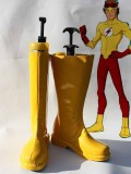 Young Justice Kid Flash Cospaly Boots