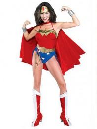 Sexy Wonder Woman Spandex Superhero Costume