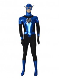 Blue Lantern Crops Shiny Custom Superhero Costume