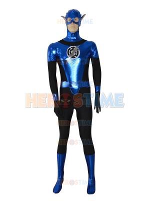 Blue Lantern Crops Shiny Custom Superhero Costume