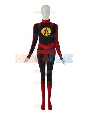 Custom Yellow Lantern Red Strong Man Superhero Costume