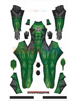 Deadpool Green Lantern Deadlantern DyeSub Printing Superhero Costume