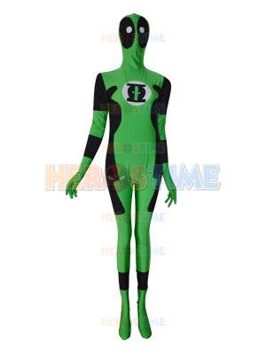Green Lantern Deadpool Custom Superhero Costume