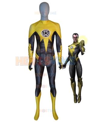 Yellow Lantern Costume Sinestro Corps Supervillain Suit