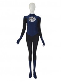 Navy Blue Lantern Crops Custom Superhero Costume