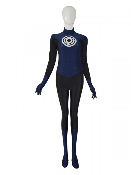 Navy Blue Lantern Crops Custom Superhero Costume  sc 1 st  Herostime.com : custom superhero costume makers  - Germanpascual.Com