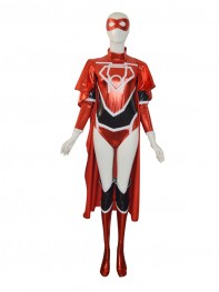 Red Lantern Crops Female Shiny Superhero Costume