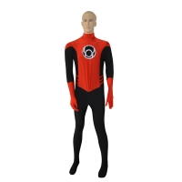Red & Black Latern Crops Superhero Costume