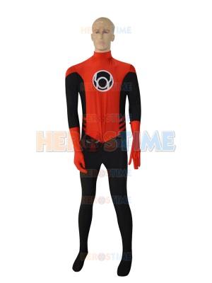Red & Black Latern Crops Superhero Costume