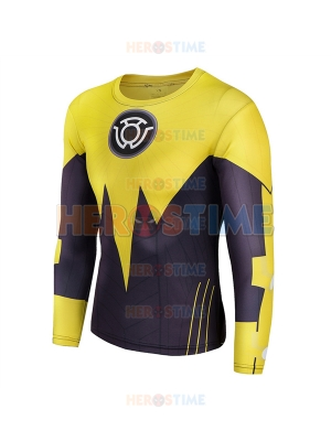 Yellow Lantern Sinestro Corps Superhero Costume Tee Quick Dry Sports