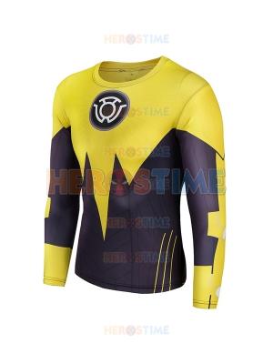 Yellow Lantern Sinestro Corps Superhero Costume Tee Quick Dry Sports