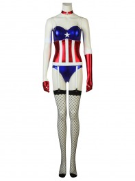 Captain America Suit Avengers Sexy Female Cosplay Costume