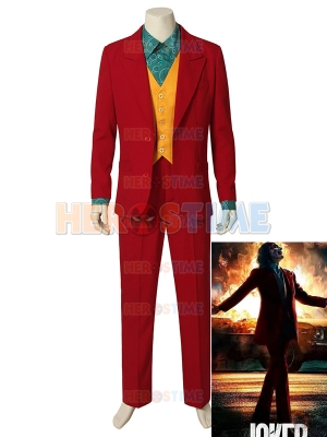 Joker 2019 Red Suit Full Set Joker Costume