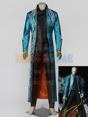 Video Game Devil May Cry Vergil Cosplay Costume