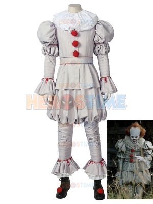 It Pennywise Costume IT chapter two the Dancing Clown Cosplay Full Set