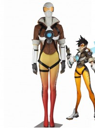 Game Overwatch Tracer Lena Oxton Cosplay Suit
