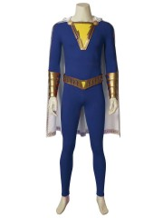 Captain Marvel Jr. Suit Shazam! Freddy Freeman Cosplay Costume