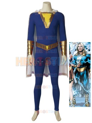 Captain Marvel Jr. Suit Shazam! Freddy Freeman Cosplay Costume
