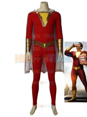 Shazam! Billy Batson Suit Captain Marvel Cosplay Costume