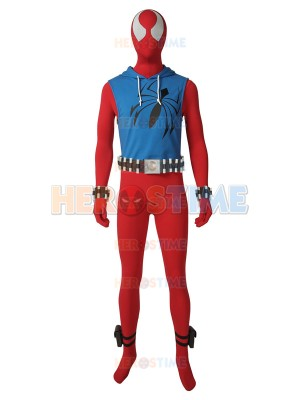 Scarlet Spider Cosplay Costume Ben Reilly Hoodie Suit