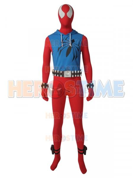 Scarlet Spider Cosplay Costume Ben Reilly Hoodie Suit