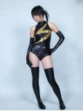 Black Ms. Marvel Shiny Metallic Superhero Costume