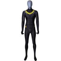2018 Erik Killmonger Black Panther Gold Version Printing Superhero Costume