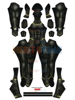 Black Panther 2018 Killmonger Costume No Mask