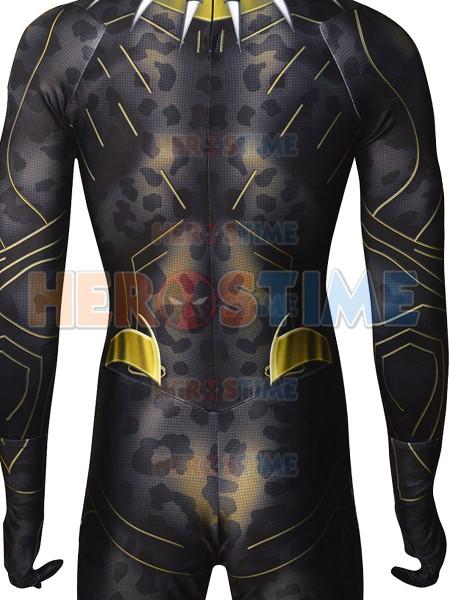 Black Panther 2018 Killmonger Golden Jaguar Costume No Mask