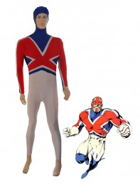 Marvel Comics Captain Britain Spandex Superhero Costume