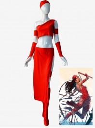 Superhero Elektra Natchios Cosplay Costume